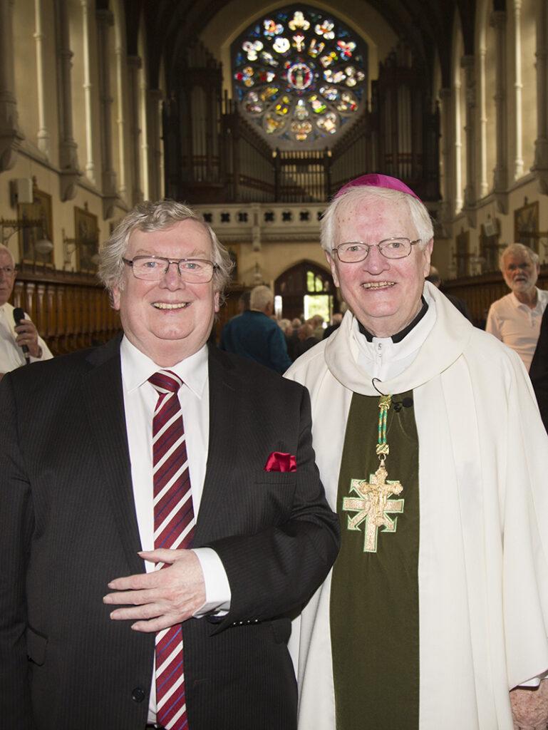 Tony Gorman, Chairman AHA and Bishop Kevin Boland, 50th Jubilarian and pastman